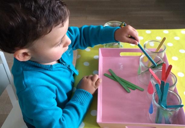 L'Activité Montessori du Jour : tri de couleurs