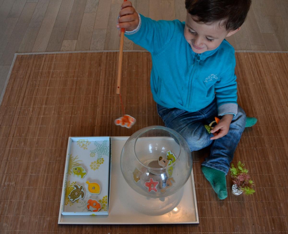 L'Activité Montessori du Jour : pêche tropicale