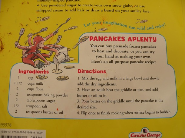 curious george pancake recipe