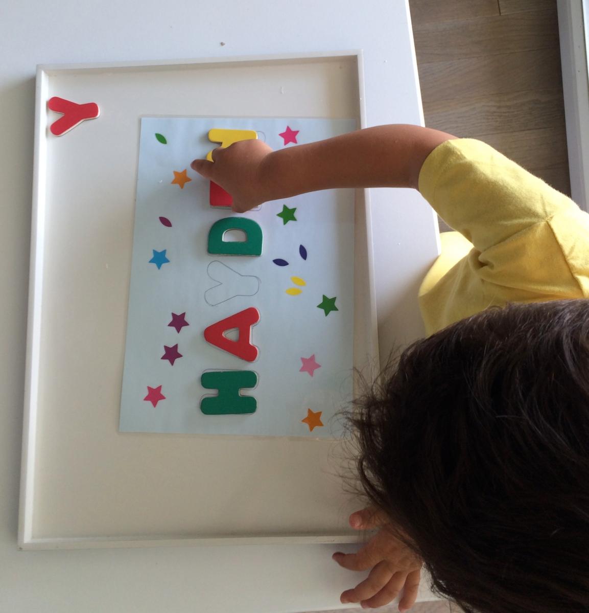 L'Activité Montessori du Jour : les lettres de mon prénom
