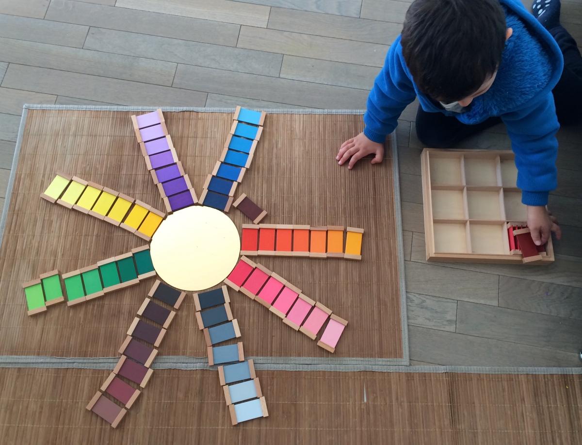 L'Activité Montessori du Jour : 3ème boîte de couleurs