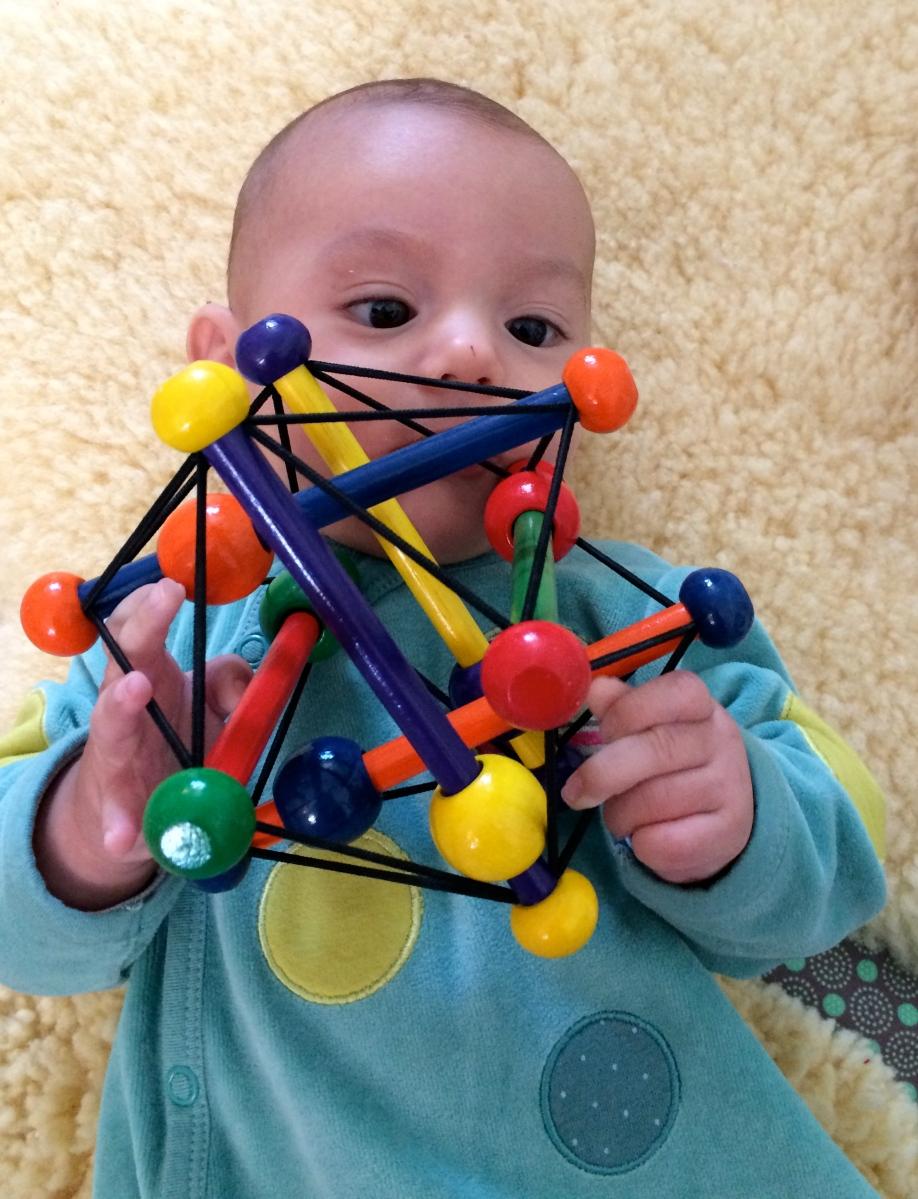 L'Activité Montessori du Jour : balles tactiles et observation